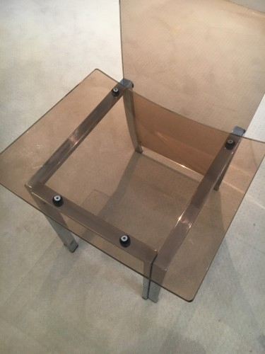Furniture  - Eight tinted plexiglas chairs