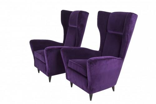 20th century - Pair of armchairs - IIco Parisi (1916-1996)