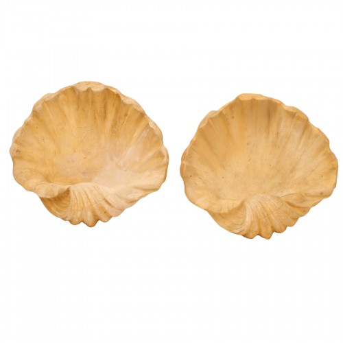 "Pair of ""shell"" wall sconces - Pierre Dariel (Dolt)"