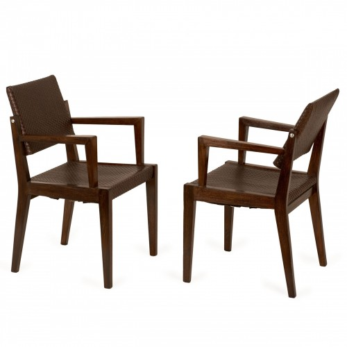 Pair of chairs - Jacques Adnet (1900-1984)