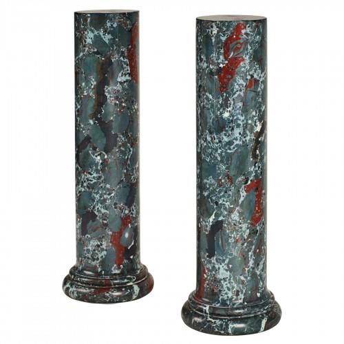 Pair of scagliola columns