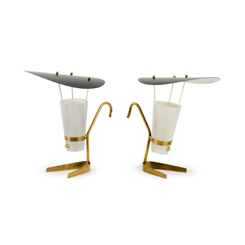 """Pair of """"Model 135"""" lamps - Jacques Biny (1913-1976)"""