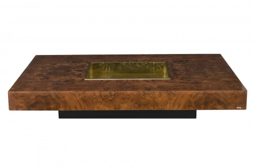 """Burl ash """"TRV"""" table - Willy Rizzo (1928-2013)"""