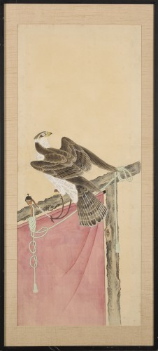 Antiquités - A series of eight gouaches on paper, Japan, Meiji Period.