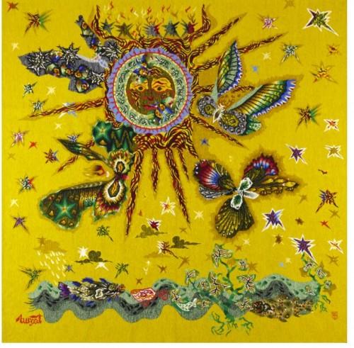 """Aubusson Tapestry """"Phoebus et les ailes""""by Jean Lurcat (1892 - 1966)"""
