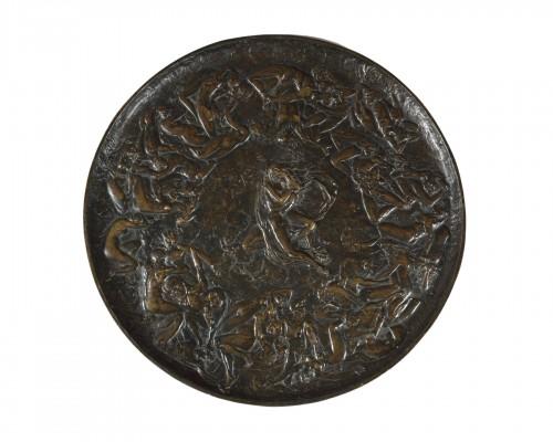 Bronze dish, Jean Garnier (1820 – 1895), L'Enfer des Luxurieux
