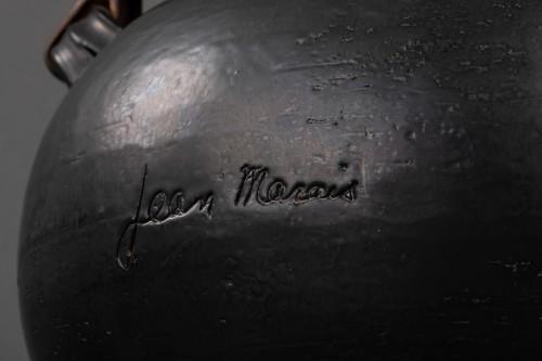 Important ceramic teapot signed Jean Marais (1913 - 1998) - Porcelain & Faience Style 50