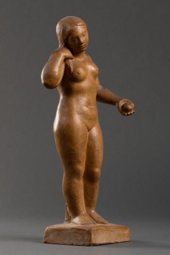 Nude, terracotta - F. Altimir - Sculpture Style Art Déco