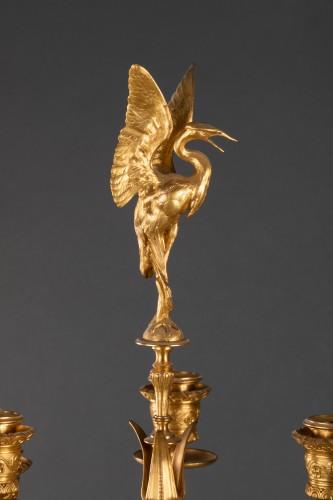 Lighting  - Pair of candelabras - Ferdinand LEVILLAIN et Ferdinand BARBEDIENNE