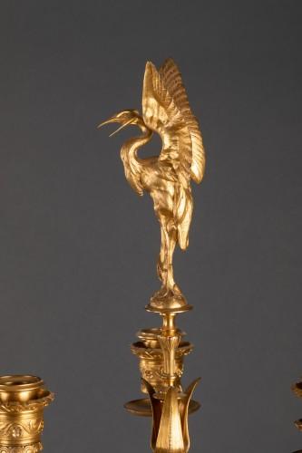 Pair of candelabras - Ferdinand LEVILLAIN et Ferdinand BARBEDIENNE  -