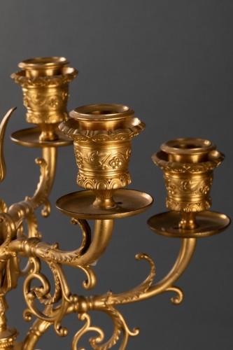 20th century - Pair of candelabras - Ferdinand LEVILLAIN et Ferdinand BARBEDIENNE