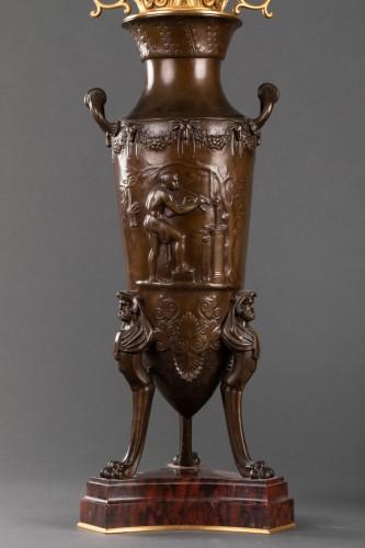 Antiquités - Pair of candelabras - Ferdinand LEVILLAIN et Ferdinand BARBEDIENNE