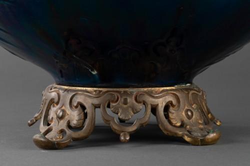 Vase mounted ceramic lamp - Carrier Belleuse - Porcelain & Faience Style Napoléon III