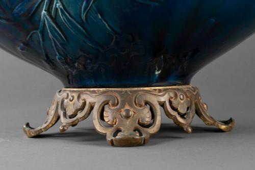 Porcelain & Faience  - Vase mounted ceramic lamp - Carrier Belleuse