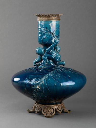 Napoléon III - Vase mounted ceramic lamp - Carrier Belleuse