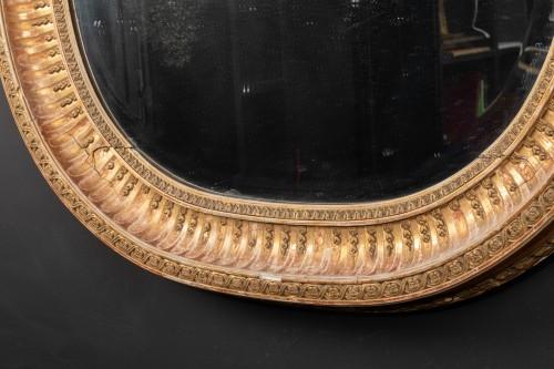 Late 19th century oval mirror - Mirrors, Trumeau Style Napoléon III