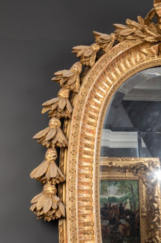 19th century - Late 19th century oval mirror