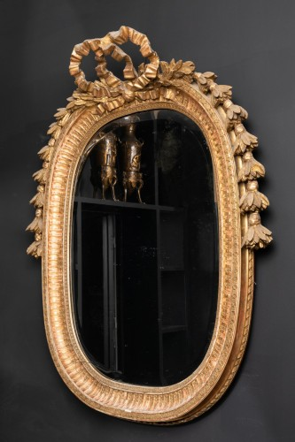 Late 19th century oval mirror - Napoléon III