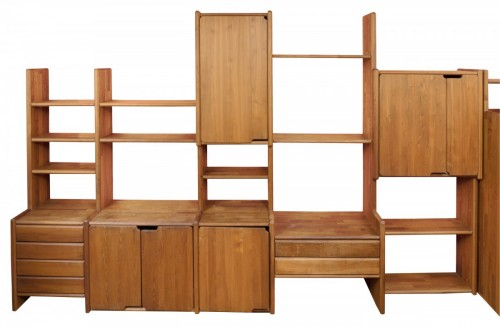 """Bookcase """" GO """" -  Pierre CHAPO (1927-1987)"""