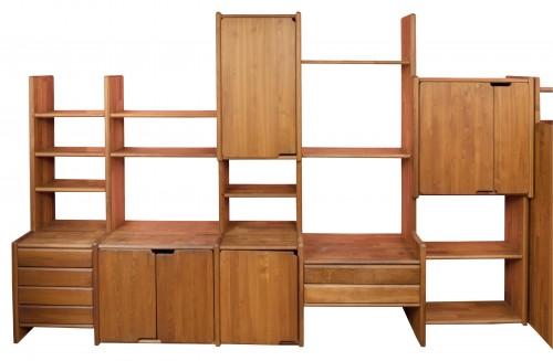 """Bookcase """" GO """" -  Pierre CHAPO (1927-1987) - Furniture Style 50"""