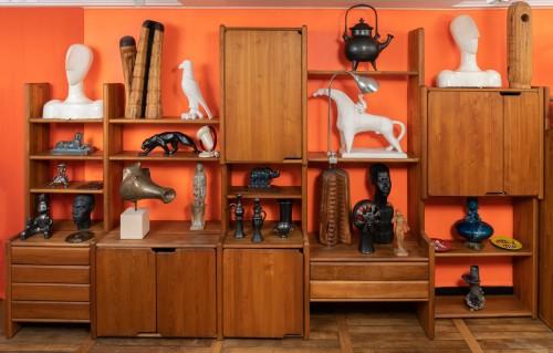 """Furniture  - Bookcase """" GO """" -  Pierre CHAPO (1927-1987)"""