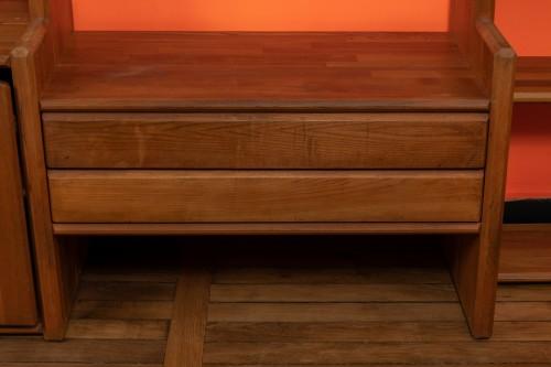 """Bookcase """" GO """" -  Pierre CHAPO (1927-1987) -"""