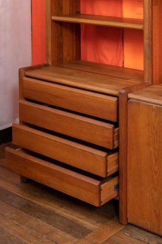 """Antiquités - Bookcase """" GO """" -  Pierre CHAPO (1927-1987)"""