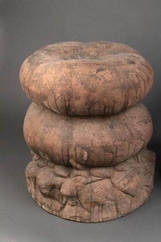 Seating  - Set of four terracotta garden stools