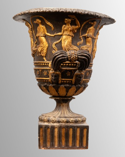 Antique terracotta crater, Italy late 18th century - Decorative Objects Style Napoléon III