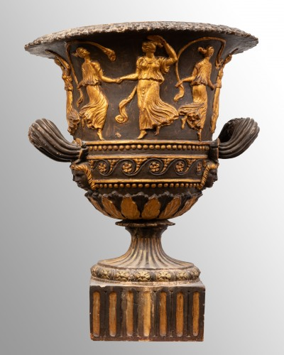 Antique terracotta crater, Italy late 18th century -