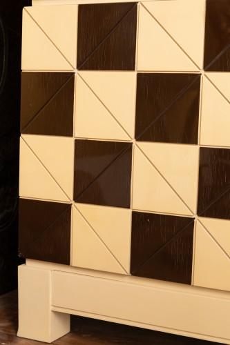 "Pair of showcase furniture, ""Vasarely"" Emiel VERANNEMAN - Furniture Style 50"