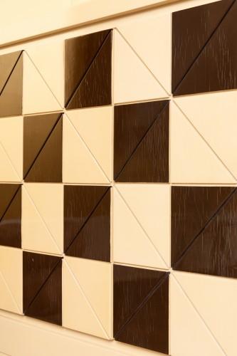 "Pair of showcase furniture, ""Vasarely"" Emiel VERANNEMAN -"