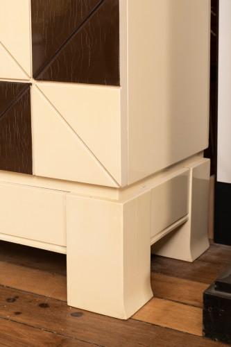 """20th century - Pair of showcase furniture, """"Vasarely"""" Emiel VERANNEMAN"""