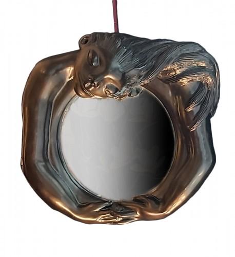 """Ceramic mirror """"Ondine"""" signed Jean Marais"""