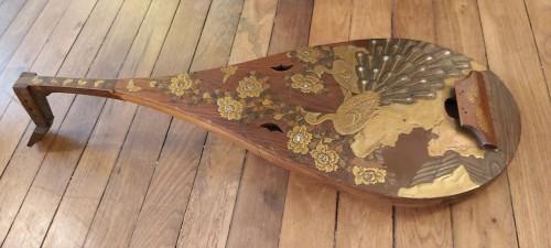 Asian Works of Art  - Luth, Biwa Japan, Meiji Period