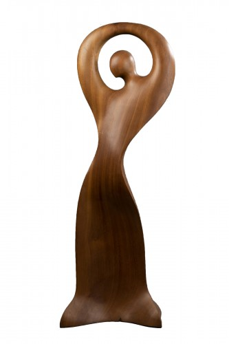"""Gitane""  Sculpture in wood from Africa - Ricardo Scarpa (1905 - 1999)"