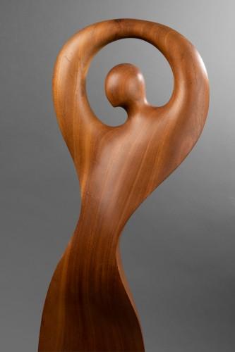 """Gitane""  Sculpture in wood from Africa - Ricardo Scarpa (1905 - 1999) -"
