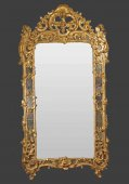 Large Louis XV giltwood mirror