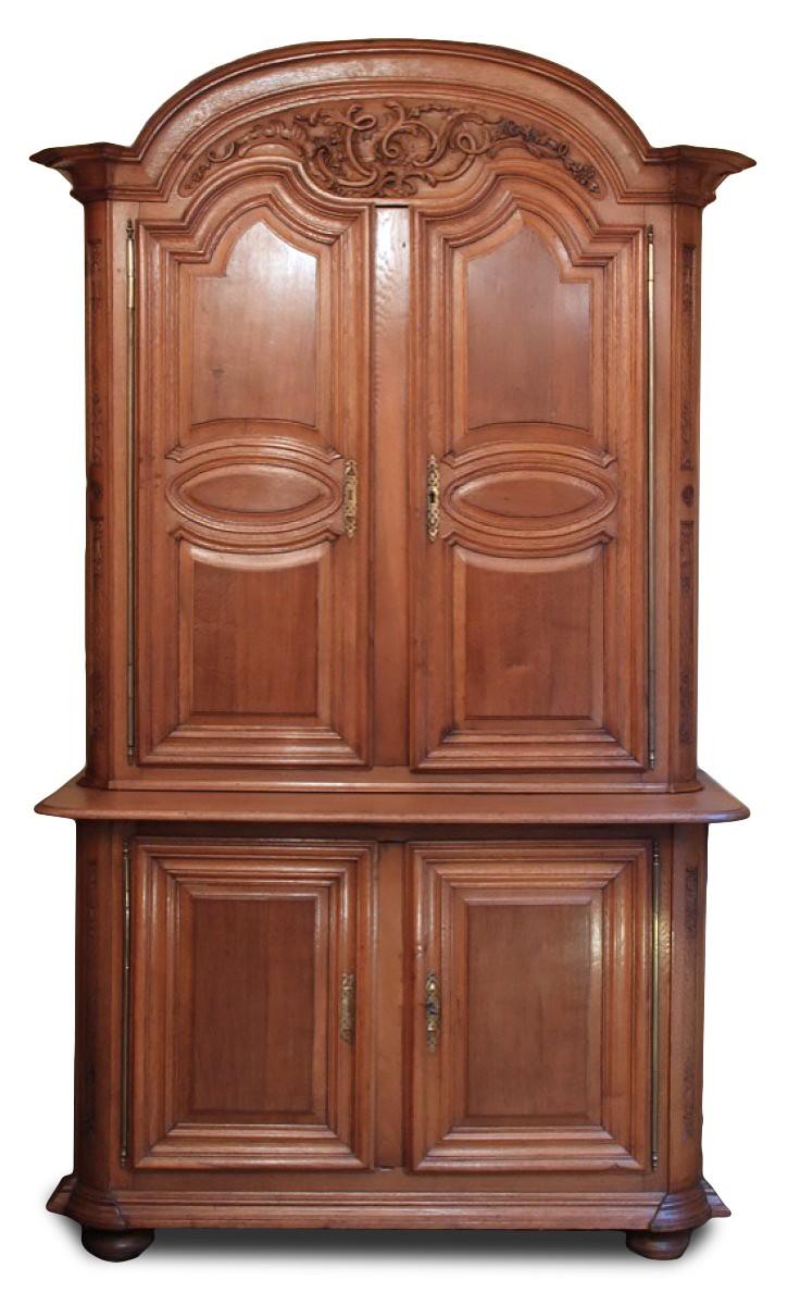 armoire buffet deux corps ch ne xviiie si cle nord de la france. Black Bedroom Furniture Sets. Home Design Ideas