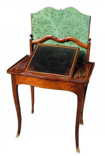 """A Louis XV table """"liseuse"""" stamped Rochette"""