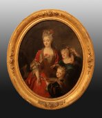 Portraits painting (a pair) of french Regency period