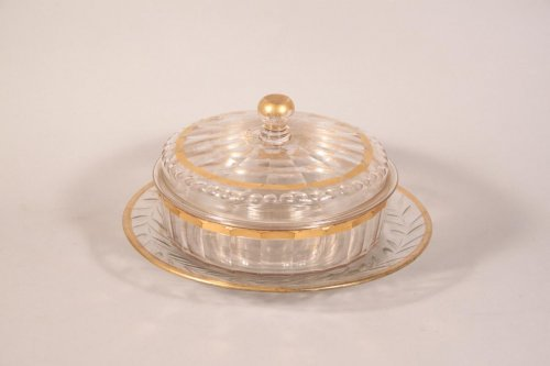 A XVIIIth century gilt glass Compotier