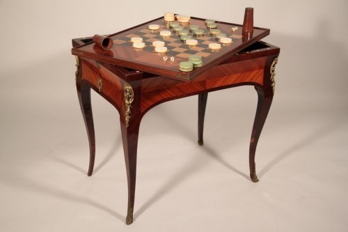 A Louis XV game table