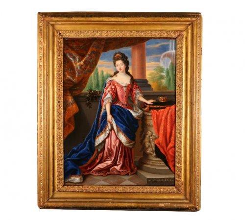 Portrait of Louise de Penancoët de Keroual, Duchess of Portsmouth by Pierre  Mignard