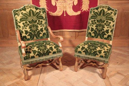 Giltwood salon set of Louis XIV period