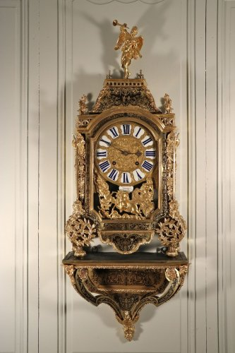 Boulle marquetry wall cartel by Hommet à Paris, circa 1700-1720