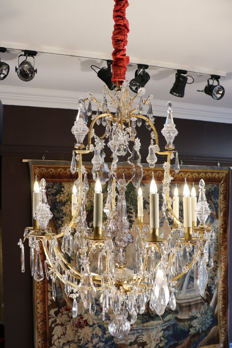 Louis xv crystal chandelier ref51654 louis xv crystal chandelier aloadofball Gallery