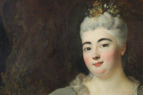 Princesse Palatine - Nicolas de Largillière and workshop, circa 1690-1700 - Paintings & Drawings Style Louis XIV