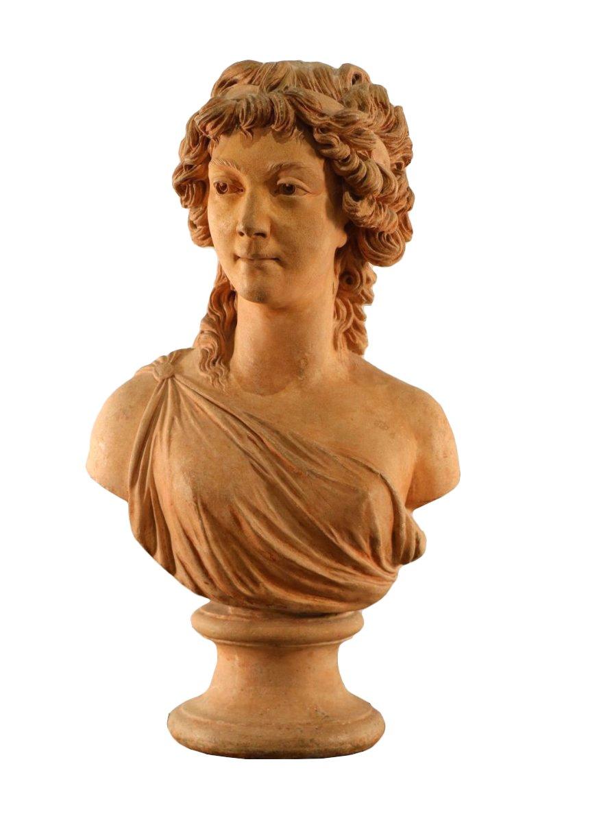 buste de jeune femme pl tre patin madame drouin n e lemaistre 1790 xviiie si cle. Black Bedroom Furniture Sets. Home Design Ideas