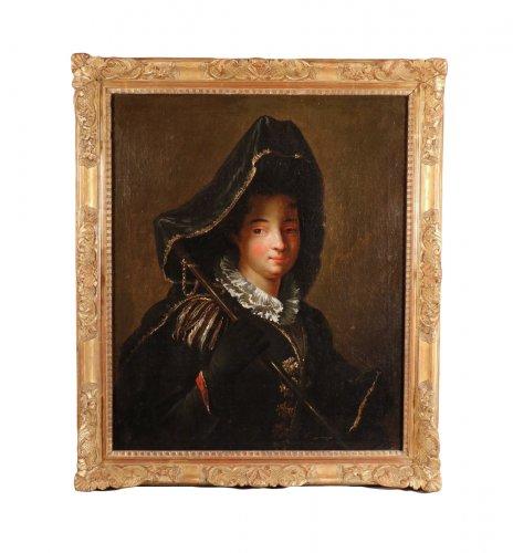 Portrait of Charlotte Desmares, follower of J.-B. Santerre, early 18th century